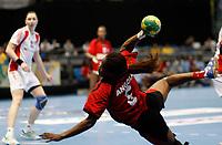 20111216: SAO PAULO, BRAZIL -<br />  XX World Handball Angola x Rússia in Ibirapuera Gym at Sao Paulo, Brazil.<br /> In photo: Madalena (Angola).<br /> PHOTO: CITYFILES