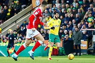Norwich City striker Nelson Oliveira (9) during the EFL Sky Bet Championship match between Norwich City and Barnsley at Carrow Road, Norwich, England on 18 November 2017. Photo by Phil Chaplin.