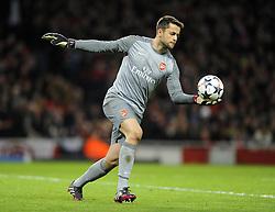 Arsenal's Lukasz Fabianski - Photo mandatory by-line: Joe Meredith/JMP - Tel: Mobile: 07966 386802 19/02/2014 - SPORT - FOOTBALL - London - Emirates Stadium - Arsenal v Bayern Munich - Champions League - Last 16 - First Leg