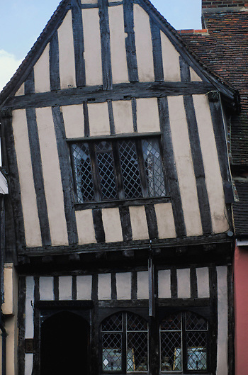 Crooked house in Lavenham in Suffolk, England.