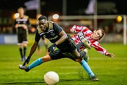 06-03-2019: Voetbal: O19 Alphense Boys v Ajax: Alphen aan den Rijn<br /> Onder 19 JO19-1 kwartfinales - Seizoen 2018-2019<br /> (L-R) #7 Eros Maddy (Ajax), #2 Mike Mulder (Alphense Boys)