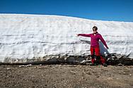 VILDMARKSVÄGEN JULI 2020<br /> Fortfarabde en hel del snö kvar efter Vildmarksvägen.<br /> Bilden är tagen vid den gamla Stekenjokk-gruvan.<br /> Foto: Per Danielsson/Projekt.P