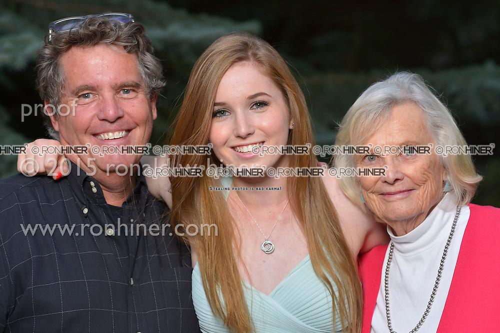 Vail Mountain School Prom Night; Ron Hiner, Jackie Hiner, Joan Hiner