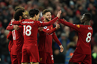 Football - 2019 / 2020 Premier League - Liverpool vs. Southampton<br /> <br /> Liverpool's Mohamed Salah celebrates scoring his sides fourth goal <br /> <br /> Colorsport / Terry Donnelly