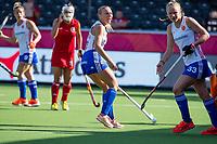ANTWERP - BELFIUS EUROHOCKEY Championship.  women  England v Belarus (4-3) .Hannah Martin (Eng) with Isabelle Petter (Eng)  WSP/ KOEN SUYK