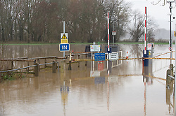 © Licensed to London News Pictures 28/12/2020. Yalding, UK. The Lees picnic area is flooded. Yalding village in Kent and surrounding areas are flooded due to the river Medway and river Beult bursting their banks. Photo credit:Grant Falvey/LNP