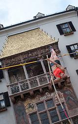 30.05.2015, Altstadt, Innsbruck, AUT, Golden Roof Challenge, Stabhochsprung Frauen, im Bild Kira Gruenberg (AUT) // Kira Gruenberg of Austria in action during Women´s Pole Vault at Golden Roof Challenge in Innsbruck, Austria on 2015/05/30. EXPA Pictures © 2015, PhotoCredit: EXPA/ Jakob Gruber