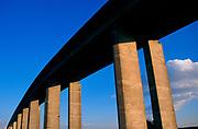 A753WC Orwell bridge concrete support columns Suffolk England