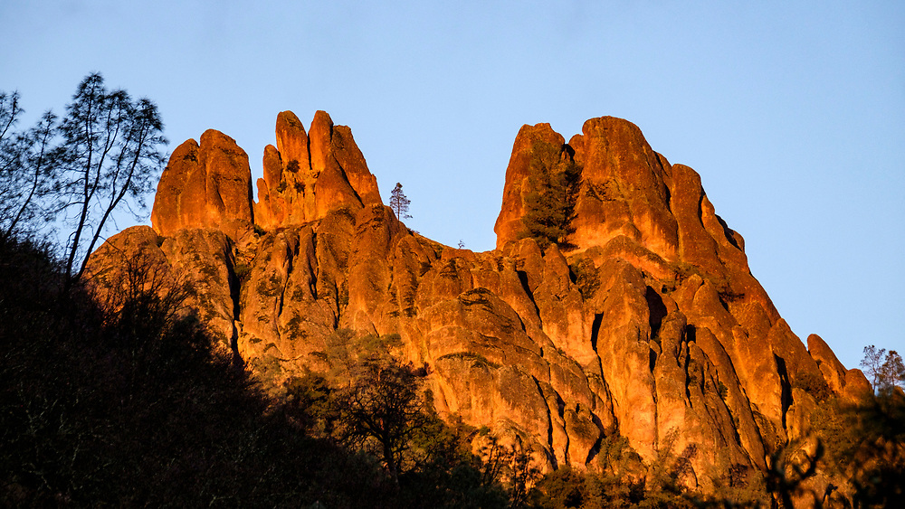 This was our first view of the namesake pinnacles that make up the park.