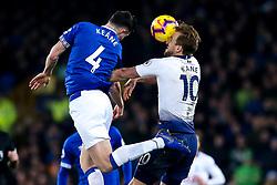 Michael Keane of Everton challenges Harry Kane of Tottenham Hotspur - Mandatory by-line: Robbie Stephenson/JMP - 23/12/2018 - FOOTBALL - Goodison Park - Liverpool, England - Everton v Tottenham Hotspur - Premier League