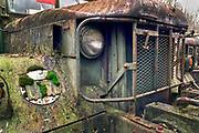 Nederland, Nijmegen, 20-3-2019Rust Roest, de schoonheid van roest,vervalOp een voormalig fabriekterrein bij Nijmegen staan tientallen oude amerikaanse legertrucks weg teroesten. De meesten zijn gestript en de onderdelen vinden hun weg naar mensen die zelf oude legervoertuigen opknappen.De gemeente wil het terrein  een nieuwe bestemming geven. Gesprekken zijn gaande. Tot die tijd blijven de voertuigen en worden ze in onderdelen verkocht. Foto: Flip Franssen