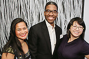 NEW YORK - March 27: Sweet Joy Hachuela, Reggie Canal, and Chantal Yang at FOKAL's The Promise of Haiti II Event. Photographed March 27, 2015 at the Medici Group in NY, NY. 2015 © Cat Laine.