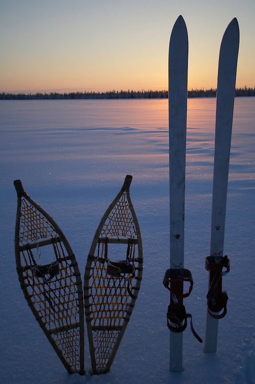 Cross country skiing and snow shoe with ecoturism operator Path finder Lapland, Lapland; Sweden