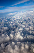 Clouds stretch to the horizon above Colorado.
