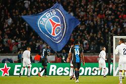 November 6, 2019, Paris, FRANCE: Club's David Okereke looks dejected during the match between French club Paris Saint-Germain Football Club and Belgian soccer team Club Brugge KV, Wednesday 06 November 2019 in Paris, France, on day four in Group A, in the first round of the UEFA Champions League. BELGA PHOTO BRUNO FAHY (Credit Image: © Bruno Fahy/Belga via ZUMA Press)
