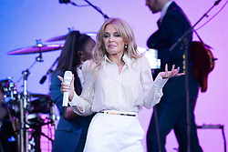 Kylie Minogue performs live on the Pyramid Stage at Worthy Farm, Pilton, Somerset. Picture date: Sunday 30th June 2019.  Photo credit should read:  David Jensen/EMPICS Entertainment