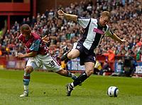 Photo: Glyn Thomas.<br />Aston Villa v West Bromwich Albion. The Barclays Premiership. 09/04/2006.<br /> West Brom's Steve Watson (R) is tripped by Gabriel Agbonlahor.