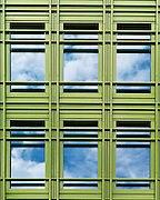 Photos of the facade of Central Saint Giles, an office and residential building in central London, designed by Italian architect Renzo Piano