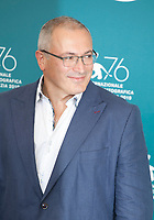 Venice, Italy, 31st August 2019, Mikhail Khodorkovsky at the photocall for the film Citizen K at the 76th Venice Film Festival, Sala Grande. Credit: Doreen Kennedy/Alamy Live News