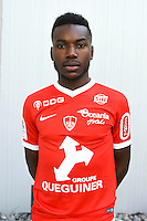 Louis Nganioni of Brest during the Photo shooting of Stade Brestois in Brest on september 22th 2016<br /> Photo : Philippe Le Brech / Icon Sport