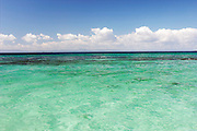 View from yacht, Carribean Sea, Placencia, Belize