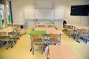 Nederland, Nijmegen, 23-2-2013Een lege klas in een middelbare school.Foto: Flip Franssen/Hollandse Hoogte