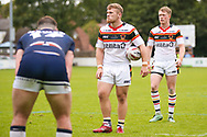 Bradford Bulls replacement Sam Hallas (29)  during the Kingstone Press Championship match between Swinton Lions and Bradford Bulls at the Willows, Salford, United Kingdom on 20 August 2017. Photo by Simon Davies.
