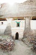 Medhane Alem Adi Kesho Church entrance. Possibly one of the oldest rock-hewn churches in Tigrai, Adi Kesho, Tigray region. Ethiopia, Horn of Africa