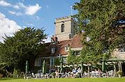 Gardens of the Priory Hotel, Wareham, Dorset, England, UK