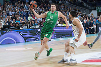 Real Madrid Facundo Campazzo and Unicaja Dragan Milosavljevic during Turkish Airlines Euroleague match between Real Madrid and Unicaja at Wizink Center in Madrid, Spain. November 16, 2017. (ALTERPHOTOS/Borja B.Hojas)