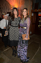 Left to right, LISA BILTON and YASMIN LE BON at Save the Children's spectacular, black tie Winter Gala, a festive fundraising event held at London's Guildhall. Guests were transported into the magical world of the much-celebrated British novelist, Roald Dahl, in celebration of his centenary, for a marvellous evening of fine dining and gloriumtious entertainment to raise money to help transform children's lives across the world and here in the UK.