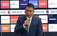 Yonghong Li <br /> Milano 14-04-2017 <br /> Presentazione nuova proprieta AC Milan <br /> New Ac Milan properties <br /> Foto Studio Buzzi/ Pool / Insidefoto