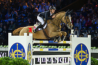 Bertram Allen on Quiet Easy 4 competes during Hong Kong Jockey Club Trophy at the Longines Masters of Hong Kong on 19 February 2016 at the Asia World Expo in Hong Kong, China. Photo by Juan Manuel Serrano / Power Sport Images
