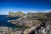 Just North of Saligo Bay the distinctive rocks locally named after the Sydney Opera House