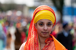 © Licensed to London News Pictures. 10/04/2016. London, UK. Thousands of Sikhs enjoy the festivities at Vaisakhi, the Sikh New Year and harvest festival, in Southall, west London. Photo credit : Stephen Chung/LNP
