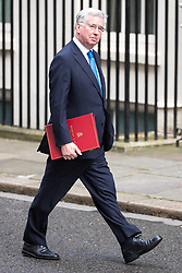 © Licensed to London News Pictures . 29/03/2017 . London , UK . MICHAEL FALLON arrives . Ministers arriving and leaving for a Cabinet meeting and Prime Minster's Questions , at 10 Downing Street , Westminster . Today (29th March 2017) the British Government will trigger Article 50 of the Lisbon Treaty and commence Britain's withdrawal from the European Union . Photo credit : Joel Goodman/LNP