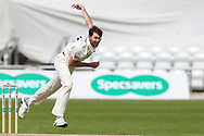 James Fuller of Hampshire \bowl during the opening day of the Specsavers County Champ Div 1 match between Yorkshire County Cricket Club and Hampshire County Cricket Club at Headingley Stadium, Headingley, United Kingdom on 27 May 2019.