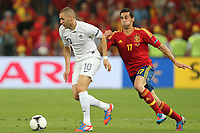 FOOTBALL - UEFA EURO 2012 - DONETSK - UKRAINE  - 1/4 FINAL - SPAIN v FRANCE - 23/06/2012 - PHOTO PHILIPPE LAURENSON /  DPPI - FR120 / ALVARO ARBELOA (ESP)