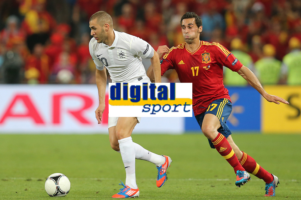 FOOTBALL - UEFA EURO 2012 - DONETSK - UKRAINE  - 1/4 FINAL - SPAIN v FRANCE - 23/06/2012 - PHOTO PHILIPPE LAURENSON /  DPPI - FR120 / ALVARO ARBELOA (ESP)