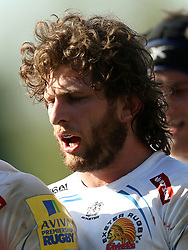 Exeter Chiefs'Alec Hepburn during the Aviva Premiership match at Twickenham Stoop, London. PRESS ASSOCIATION Photo. Picture date: Saturday May 5, 2018. See PA story RUGBYU Harlequins. Photo credit should read: Paul Harding/PA Wire. RESTRICTIONS: Editorial use only. No commercial use.