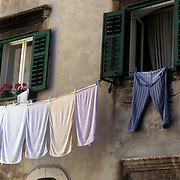 Laundry hanging in Sibenik, Croatia