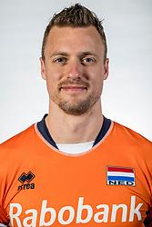 10-05-2017 NED: Selectie Nederlands volleybal team mannen 2017, Arnhem<br /> Op Papendal werd de selectie gepresenteerd / Jeroen Rauwerdink #10