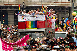 © licensed to London News Pictures. London, UK 02/07/2011. Hundreds of thousands of people turn out to watch the annual London Pride parade. Please see special instructions for usage rates. Photo credit should read Joel Goodman/LNP