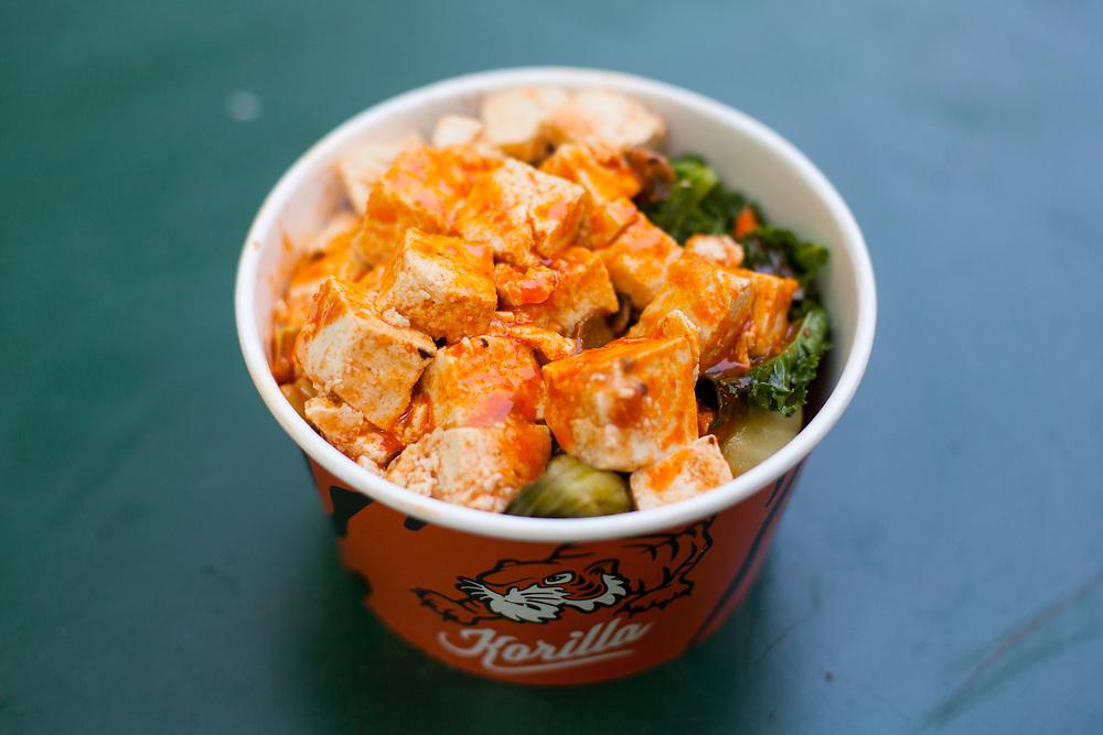 Spicy Tofu Rice Bowl at Korilla MadSqEats ($14.15) - Kim's last day