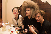 ULRIKE THEUSNER; XABIER ARAKIS; SPELA VOLCIC, Sarah Lucas- Scream Daddio party hosted by Sadie Coles HQ and Gladstone Gallery at Palazzo Zeno. Venice. 6 May 2015.