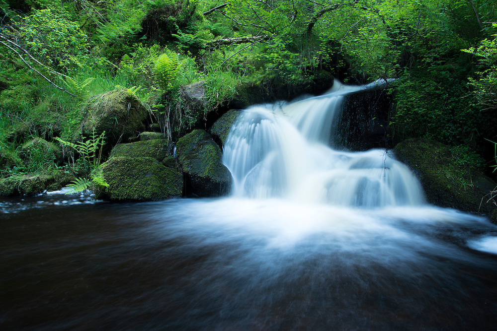 Waterfall in the Peak District.