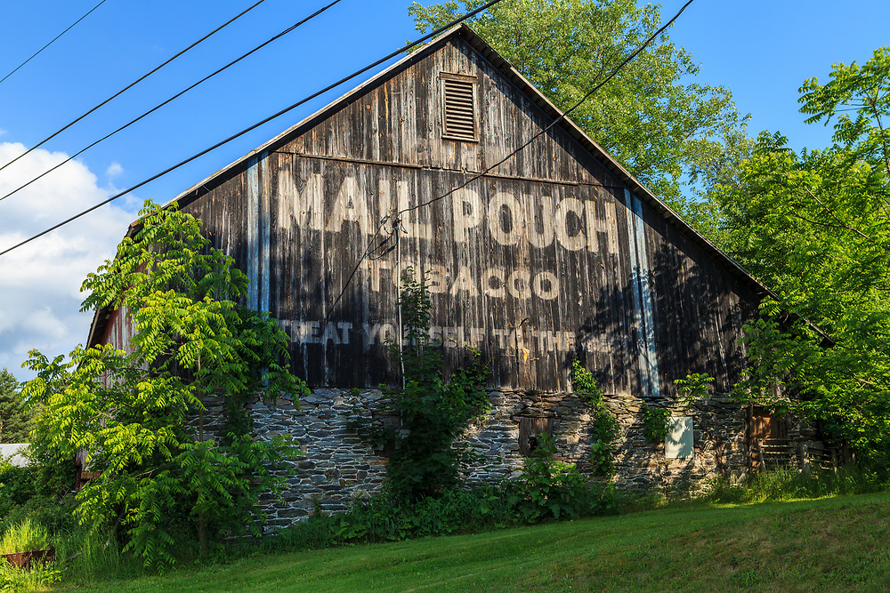 Ortanna, PA, USA- June 2, 2012: Mail Pouch Barn on Route 30 Lincoln Highway in Adams County, PA.