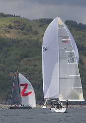 Day three of the Silvers Marine Scottish Series 2016, the largest sailing event in Scotland organised by the  Clyde Cruising Club<br /> Racing on Loch Fyne from 27th-30th May 2016<br /> <br /> GBR7745R, Eala of Rhu, J McGarry / C Moore, RNCYC, Swan 45.<br /> <br /> Credit : Marc Turner / CCC<br /> For further information contact<br /> Iain Hurrel<br /> Mobile : 07766 116451<br /> Email : info@marine.blast.com<br /> <br /> For a full list of Silvers Marine Scottish Series sponsors visit http://www.clyde.org/scottish-series/sponsors/