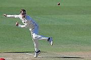 Canterbury's Theo van Woerkom bowls in the Plunket Shield Cricket match, Central Districts v Canterbury, McLean Park, Napier, Tuesday, April 06, 2021. Copyright photo: Kerry Marshall / www.photosport.nz
