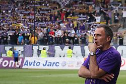 Coach of Maribor Darko Milanic at last football match of PrvaLiga Telekom Slovenije between NK Maribor and NK Interblock, when Maribor became a Slovenian National Champion, on May 23, 2009, in Ljudski vrt, Maribor. (Photo by Marjan Kelner/Sportida)